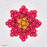 Abstract flowers background. Vector illustration Royalty Free Stock Images