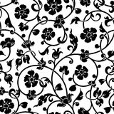 Abstract flowers baroque seamless pattern Stock Images