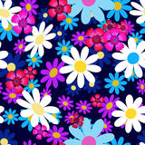 Abstract flowers blue-4-01 Royalty Free Stock Photos