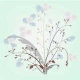 Abstract flowers. Royalty Free Stock Photo