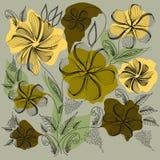 Абстрактные цветы. Букет абстрактные цветы. Площадь иллюстрации Stock Photography