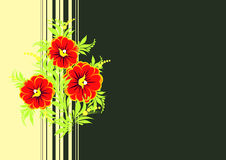 Abstract flowers branch with background Royalty Free Stock Images