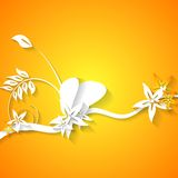Abstract flowers bright background Stock Images