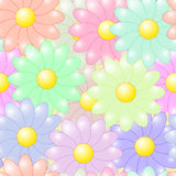 Abstract flowers colorful background Stock Photos