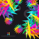 Abstract flowers colorful background template. Abstract colorful flowers background template layout design for creative needs Stock Photography
