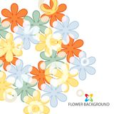 Abstract flowers colorful background template. Abstract colorful flowers background template layout design for creative needs Stock Photos