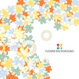 Abstract flowers colorful background template. Abstract colorful flowers background template layout design for creative needs Stock Photo