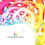 Abstract flowers colorful background template. Abstract colorful flowers background template layout design for creative needs Stock Image