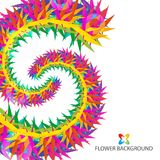 Abstract flowers colorful background template. Abstract colorful flowers background template layout design for creative needs Royalty Free Stock Images