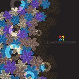 Abstract flowers colorful background template. Abstract colorful flowers background template layout design for creative needs Royalty Free Stock Photos