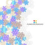 Abstract flowers colorful background template. Abstract colorful flowers background template layout design for creative needs Royalty Free Stock Photography