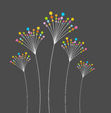 Abstract flowers. Abstract colorful flowers background. Vector illustration Royalty Free Stock Photo