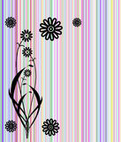Abstract flowers colorful lines cover. Illustration stock illustration