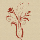 Abstract flowers creative design hand drawn Stock Image