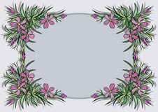 Abstract flowers frame Royalty Free Stock Images