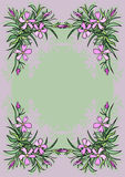 Abstract flowers frame Royalty Free Stock Photo