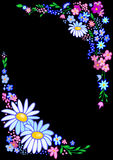 Abstract flowers frame Stock Image