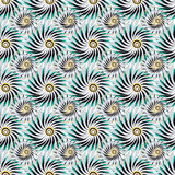 Abstract flowers on a gray background seamless pattern vector illustration Royalty Free Stock Image