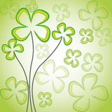 Abstract flowers. On green background vector illustration