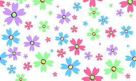Abstract flowers. On green background stock illustration