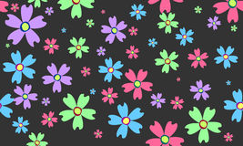 Abstract flowers. On green background royalty free illustration