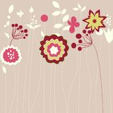 Abstract flowers greeting card Stock Photo