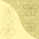 Abstract flowers and hearts Stock Photography