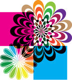 Abstract flowers illustration Stock Images