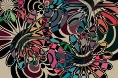 Abstract flowers illustration Stock Photo