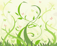 Abstract flowers illustration 9 Stock Photos