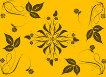 Abstract flowers and leaves background Stock Image