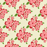 Abstract flowers and leaves. Seamless pattern. Flower texture. Stock Photography