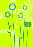 Abstract flowers, meadow, garden Stock Photography