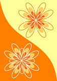 Abstract flowers in orange tones Royalty Free Stock Photo
