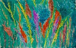 Abstract Floral - Original Watercolor Painting of Flowers