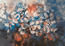 Abstract flowers painting. With vintage style color Stock Photos