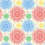 Abstract flowers pattern design royalty free stock photos