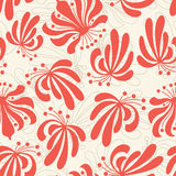 Abstract flowers pattern in modern Royalty Free Stock Photos