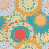 Abstract flowers pattern Royalty Free Stock Photos