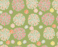 Abstract flowers pattern Royalty Free Stock Images