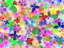 Abstract flowers pattern for textile and fashion. Floral decor. Original floral background. Stock Photo