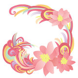 Abstract flowers pink, red and yellow Stock Photo