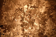 Abstract flowery background in sepia royalty free stock image