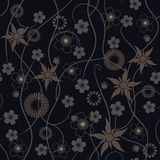 Abstract flowers - seamless pattern Stock Image