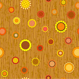 Abstract flowers seamless pattern Royalty Free Stock Photo