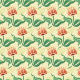 Abstract flowers seamless pattern Stock Photo