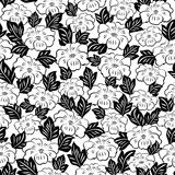 Abstract flowers seamless pattern Royalty Free Stock Images