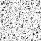 Abstract flowers seamless pattern Royalty Free Stock Image