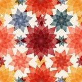 Abstract flowers. Seamless pattern background. Design for fabric. Vector illustration Royalty Free Stock Photos