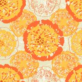 Abstract flowers seamless pattern Royalty Free Stock Photography